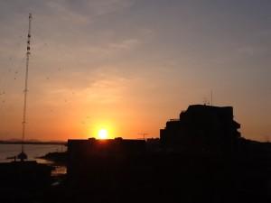サンケア和白 夕陽